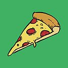 Yummy Pepperoni Pizza Slice by Andreea Butiu