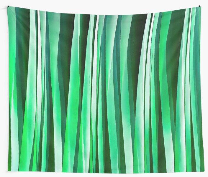 Aquamarine Ocean Stripy Pattern by taiche