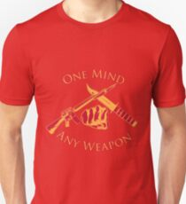 One Mind Any Weapon - US Marine Corps Martial Arts (MCMAP) - USMC Yellow/Red T-Shirt