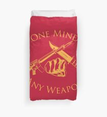 One Mind Any Weapon - US Marine Corps Martial Arts (MCMAP) - USMC Yellow/Red Duvet Cover