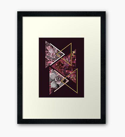 Wine Succulents #redbubble #decor #buyart Framed Print