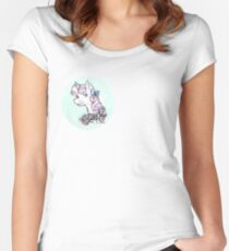 Sweetie Belle but with a bow Women's Fitted Scoop T-Shirt