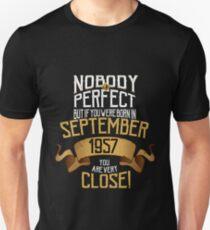 1957 September Birthday Gift - 60 Year Old BDay T-Shirt