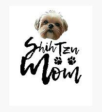 Dog Breed Shih Tzu Mom Photographic Print