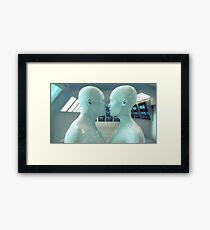 Male and female humanoid Framed Print