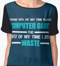 Computer Gaming Women's Chiffon Top