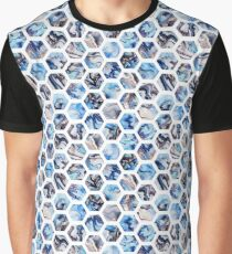 Marble hexagons Graphic T-Shirt
