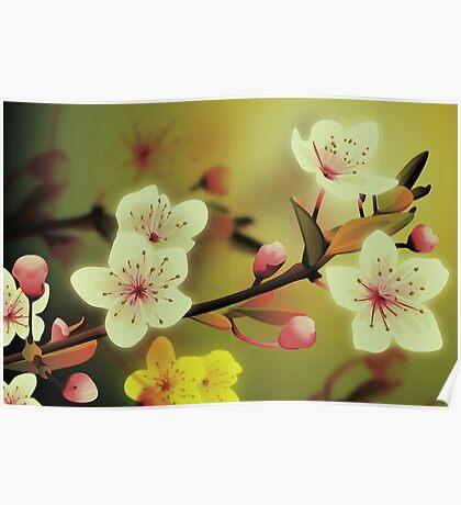 Yoshie blossom green Poster