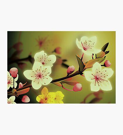 Yoshie blossom green Photographic Print
