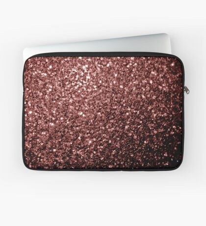 Beautiful Glam Marsala Brown-Red Glitter sparkles Laptop Sleeve