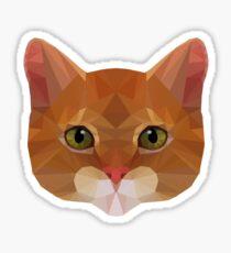 Pegatina Low-Poly Cat Geometric