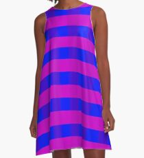 Vector purple and blue pattern  A-Line Dress