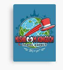 Mushroom Kingdom Travel Agency Canvas Print