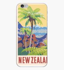 Vintage New Zealand Print iPhone Case