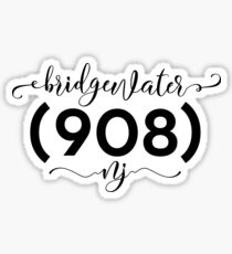 Bridgewater NJ 908 area code 08807 zip Sticker