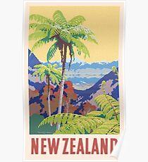 Vintage New Zealand Print Poster