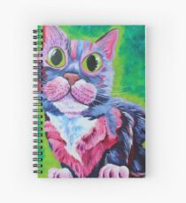 Holly - Neon Cat in Acrylic Spiral Notebook