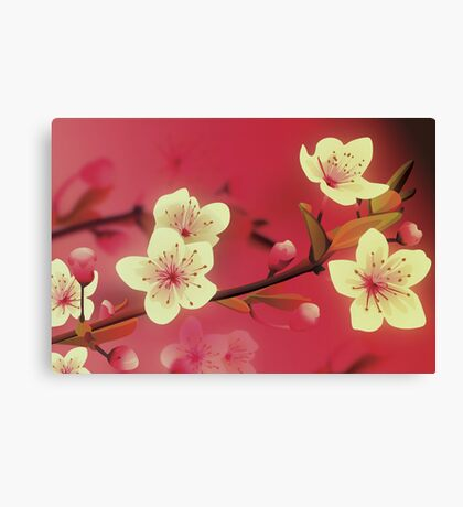 Yoshie blossom pink Canvas Print
