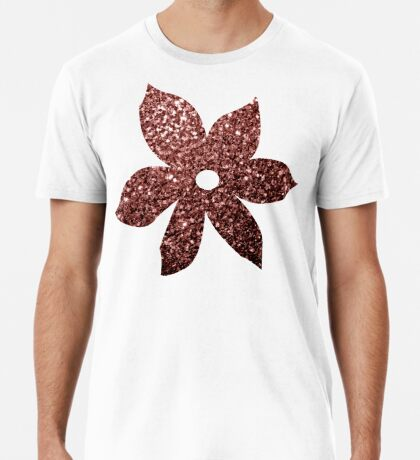 Beautiful Glam Marsala Brown-Red Glitter sparkles Men's Premium T-Shirt