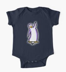 Purple Penguin Says Hello Kids Clothes