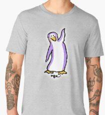 Purple Penguin Says Hello Men's Premium T-Shirt