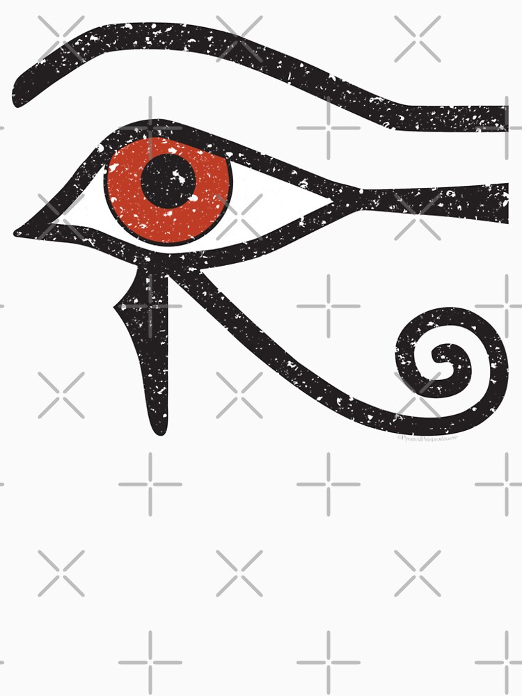 Eye Of Horus Ancient Egyptian Symbol Of Protection On Red Mens