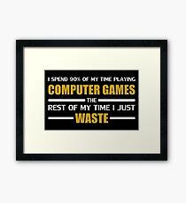 Computer Gaming Framed Print