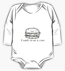 Ich war mal ein Cowburger Baby Body Langarm