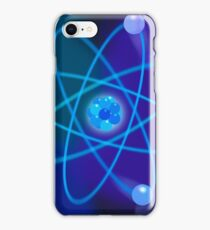 Blue Atomic Structure iPhone Case/Skin