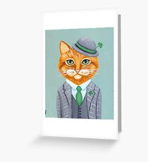 Tiarnan the Tabby Cat Greeting Card