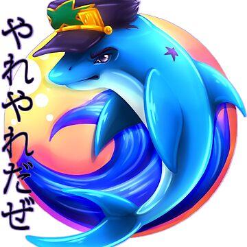 Jotaro is now a dolphin by Jadekettu