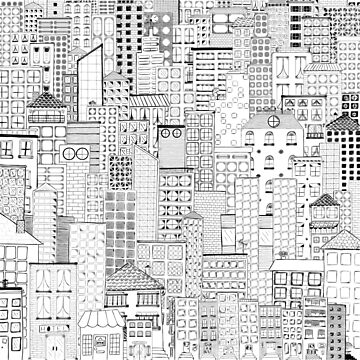City Doodle Day by beththompsonart