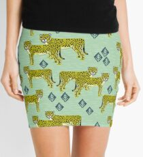 Cheetah safari nursery kids animal nature pattern print gifts  Mini Skirt
