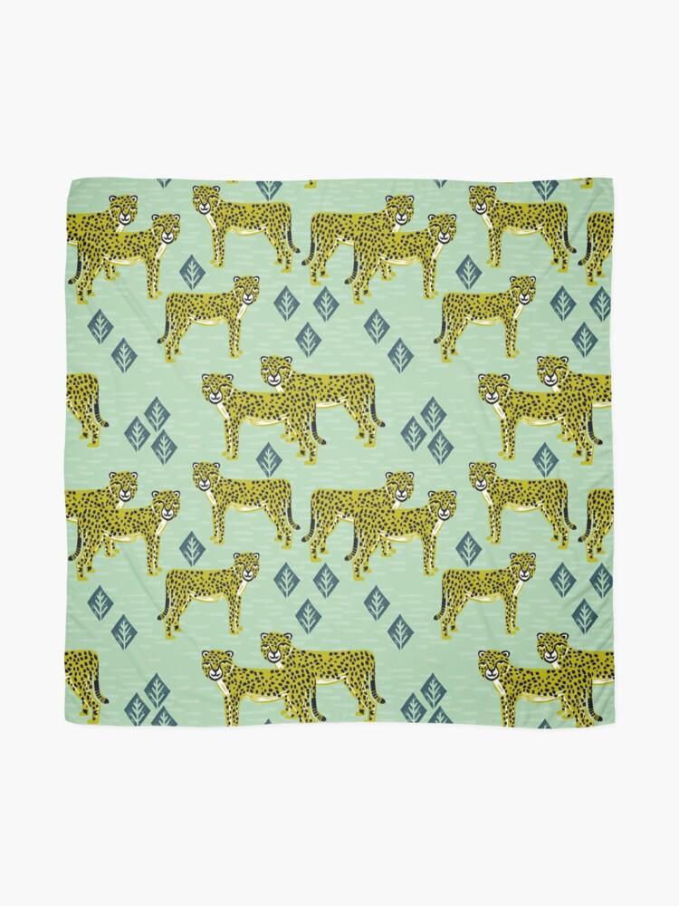 Alternate view of Cheetah safari nursery kids animal nature pattern print gifts  Scarf