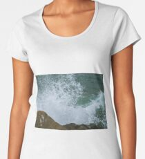 Waves Crashing Women's Premium T-Shirt