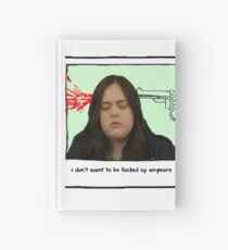 my mad fat diary Hardcover Journal