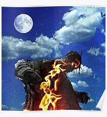 Travis Scott Fire Poster