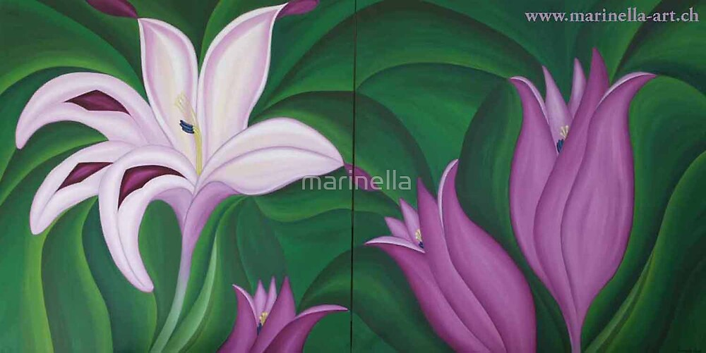 Floral Painting by Marinella  Owens