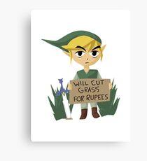 Looking For Work - Legend of Zelda Canvas Print