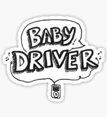 Baby Driver text logo  Sticker