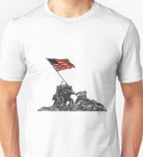 Soldiers Raising US Flag at Iwo Jima Unisex T-Shirt