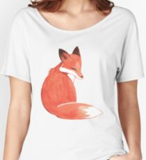 Watercolor Fox Women's Relaxed Fit T-Shirt