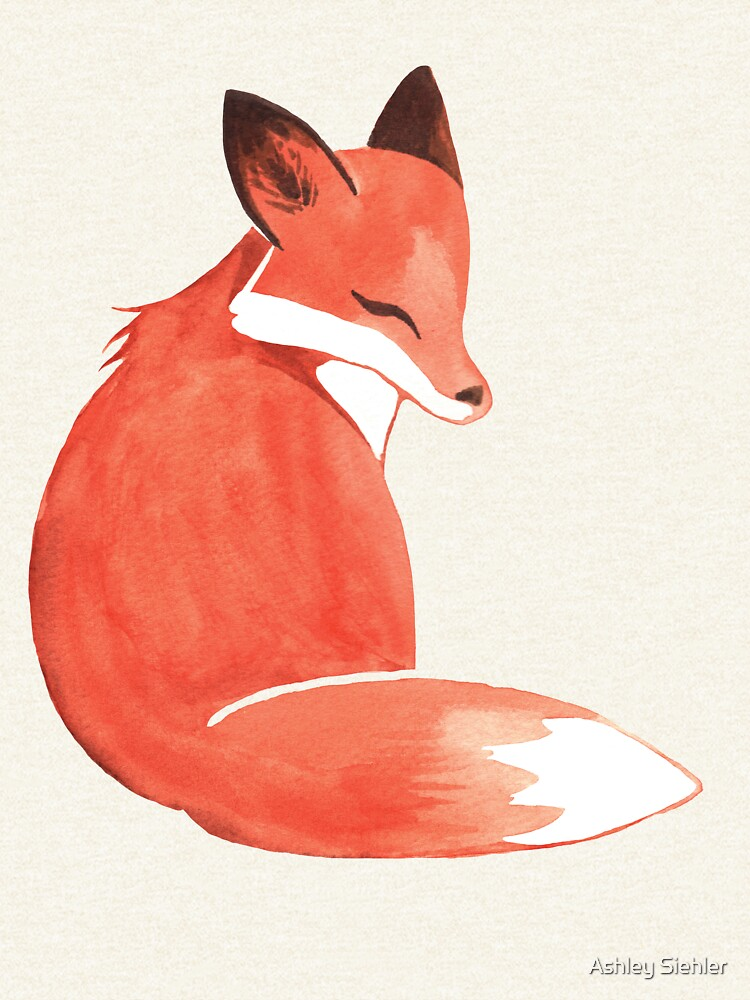 Watercolor Fox by WeileAsh