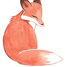 Watercolor Fox by Ashley Weiler