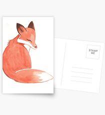 Aquarell Fuchs Postkarten