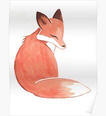 Watercolor Fox Poster