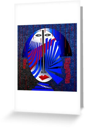 Tribal Whimsy 15 - Greeting Card by Glen Allison