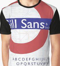 FONT POSTER Gill Sans Graphic T-Shirt