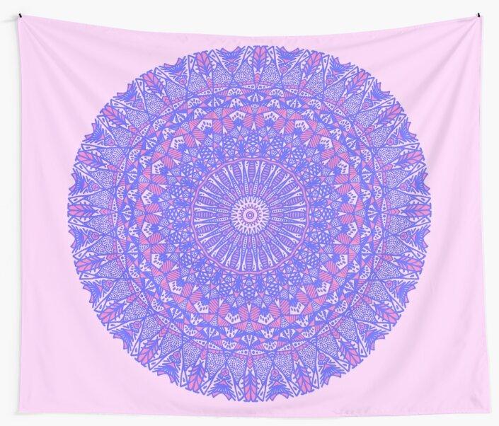 Purple and Pink Mandala by MetalDoggy