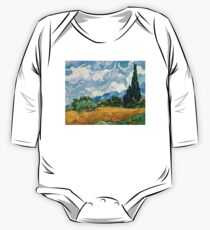 Wheat Field with Cypresses by Vincent van Gogh One Piece - Long Sleeve